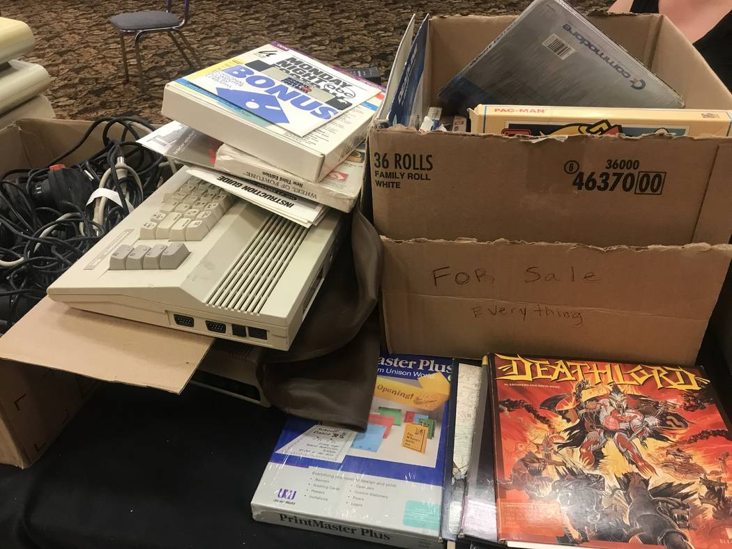 Retro technology products were sold on July 29, 2017 at the Commodore Retro Expo at Alexis Park Resort, 375 E. Harmon Ave. (Kailyn Brown/ View) @KailynHype