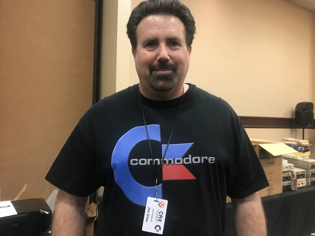 Commodore Retro Expo organizer, Jim Drew, working at the event on July 29, 2017 at Alexis Park Resort, 375 E. Harmon Ave. (Kailyn Brown/ View) @KailynHype
