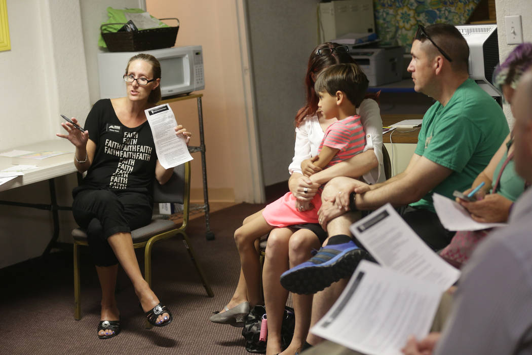 Elissa Wahl, one of the founders of RISE, leads an introduction to home-school session on Thursday, May 25, 2017, at the RISE Resource Center in Las Vegas. Rachel Aston Las Vegas Review-Journal @r ...