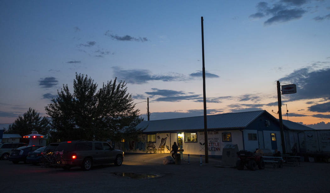 The Little A'Le'Inn in Rachel, which is also the finishing point for the Extra Terrestrial Full Moon Midnight Marathon, on Saturday, Aug. 5, 2017. (Chase Stevens/Las Vegas Review-Journal) @cssteve ...
