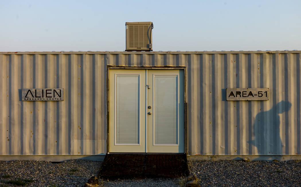 The Alien Research Center in Hiko on Saturday, Aug. 5, 2017. (Chase Stevens/Las Vegas Review-Journal) @csstevensphoto