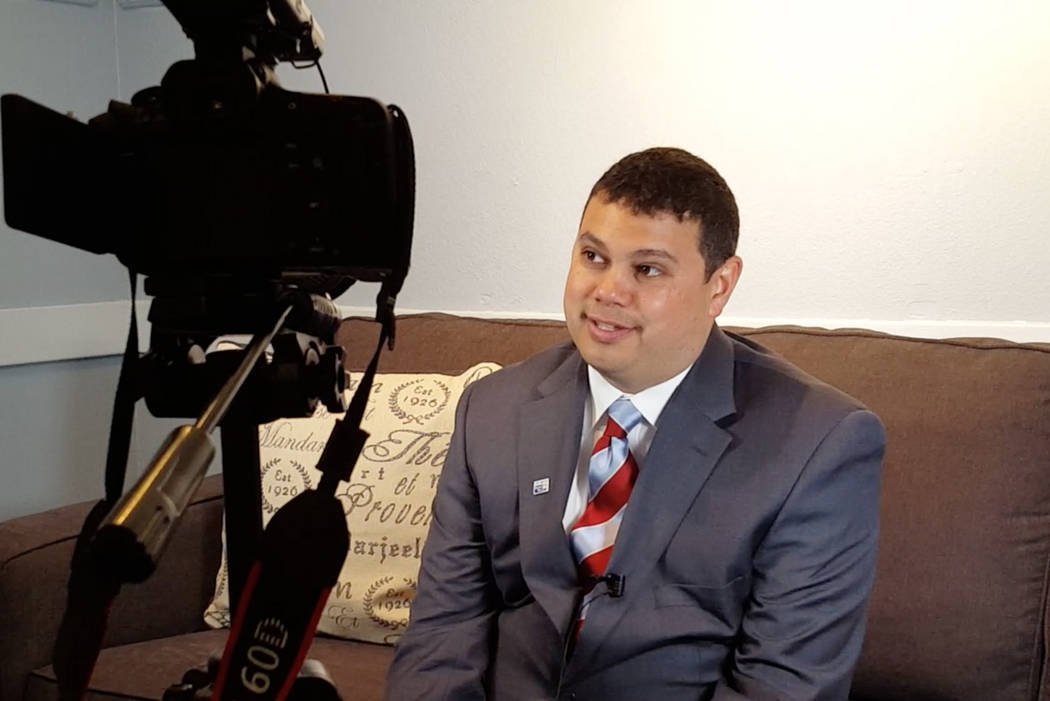 Former United Way of Southern Nevada president Bob Morgan is interviewed for the Vegas Visionaries video series. (All in Web Pro/Special to View)