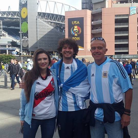 Gustavo Marcelo Sbatella with family at soccer game in 2016 (Photo provided by family)