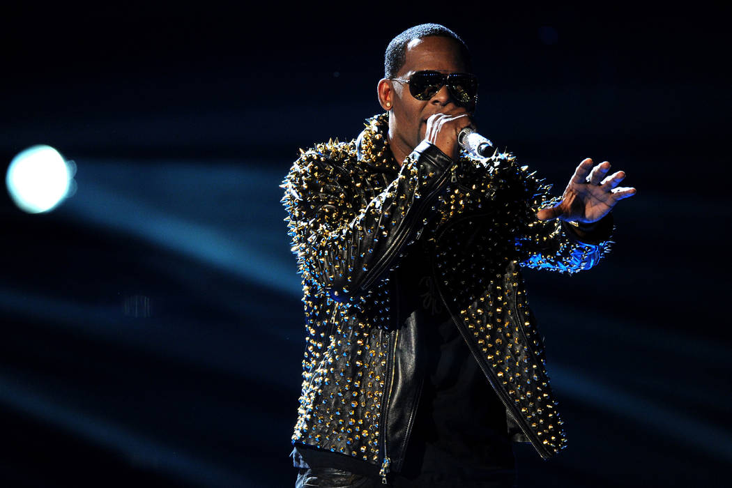 R. Kelly performs onstage at the BET Awards at the Nokia Theatre in Los Angeles. Frank Micelotta Invision AP