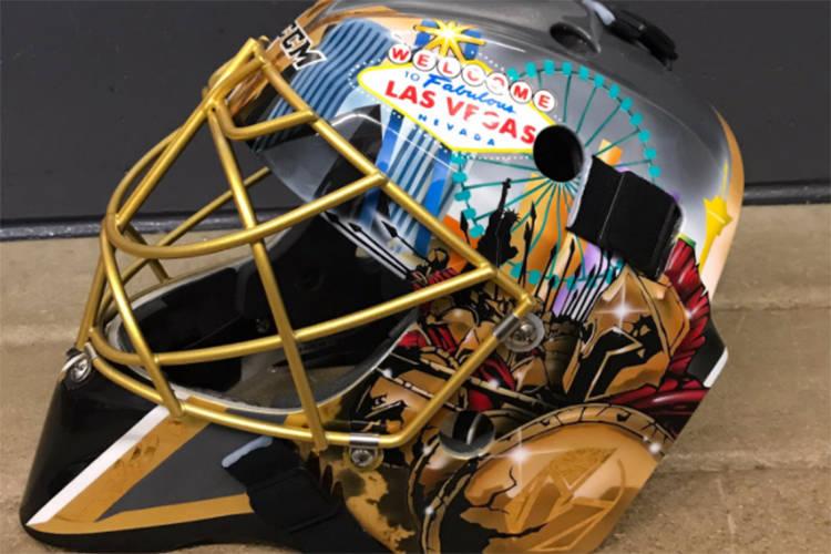 golden knights unveil las vegas themed mask for goaltender fleury