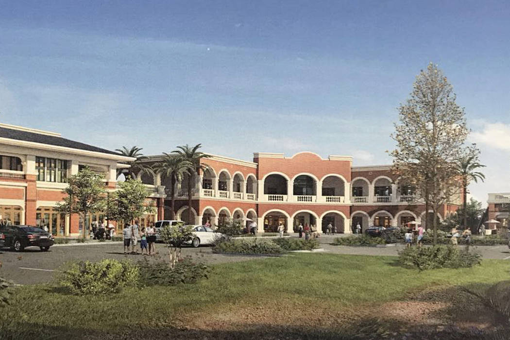 A rendering shows Shanghai Plaza, a planned retail center on Spring Mountain Road at Arville Street in Las Vegas. (Andy Wong)