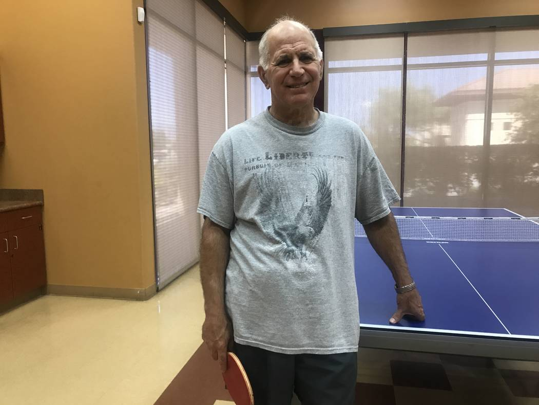 Sun City Aliante ping pong club organizer Mike Long during a gathering on July 2, 2017 at the community center, 7390 N. Aliante Parkway. (Kailyn Brown/ View) @KailynHype
