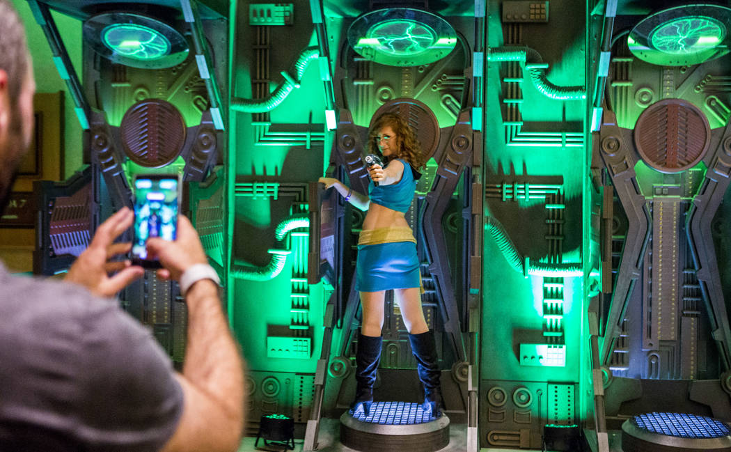 Heather Ferris, a Las Vegas resident, has her photo taken during the Official Star Trek Convention at the Rio Convention Center on Thursday, Aug. 3, 2017.  Patrick Connolly Las Vegas Review-Journa ...