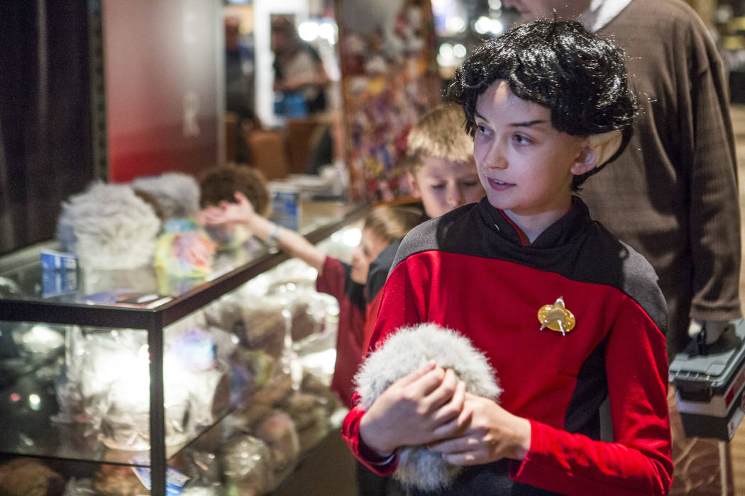 Cleo Hall, 11, at the Official Star Trek Convention at the Rio Convention Center on Thursday, Aug. 3, 2017.  Patrick Connolly Las Vegas Review-Journal @PConnPie