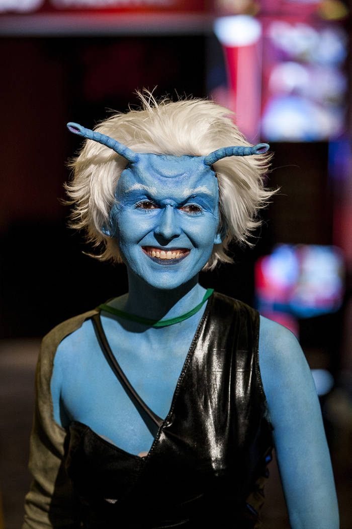 Alex Petrucci dressed as an Andorian during the Official Star Trek Convention at the Rio Convention Center on Thursday, Aug. 3, 2017.  Patrick Connolly Las Vegas Review-Journal @PConnPie
