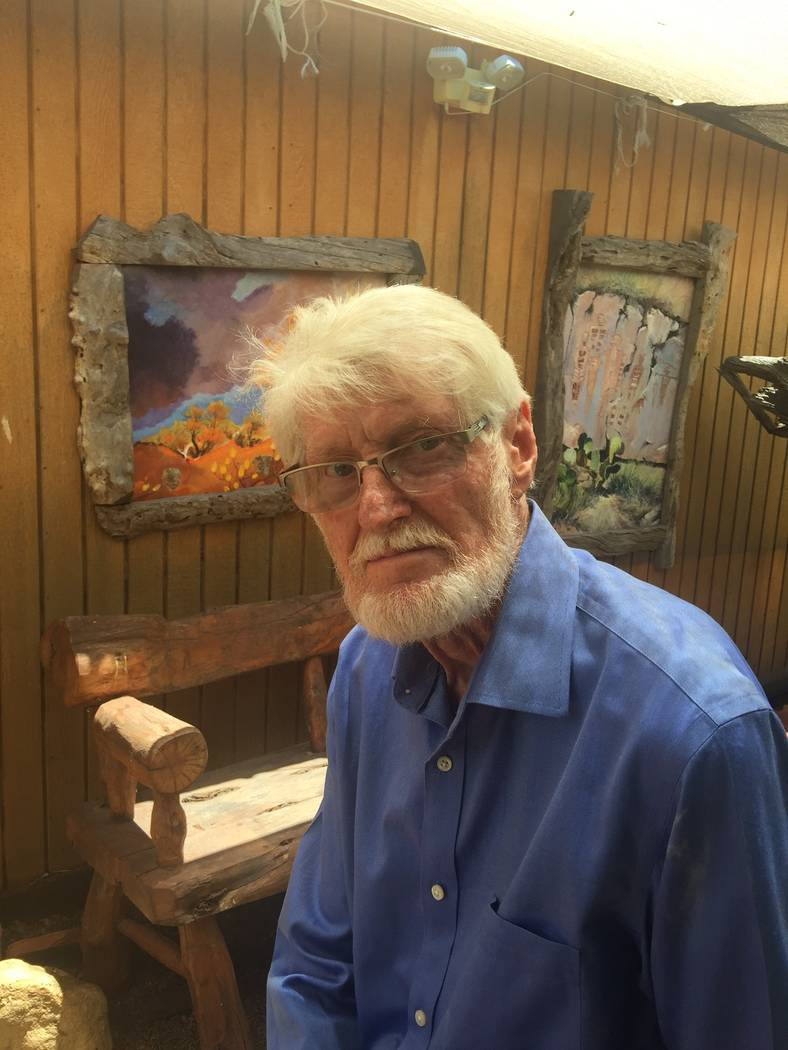 "Now a resident of Tubac, Arizona, where he has his own gallery, artist Roy Purcell — who left Las Vegas in 2004 — explores ""Vegas Valley Memories"" at the Springs Preserve. Beverly Purcell"