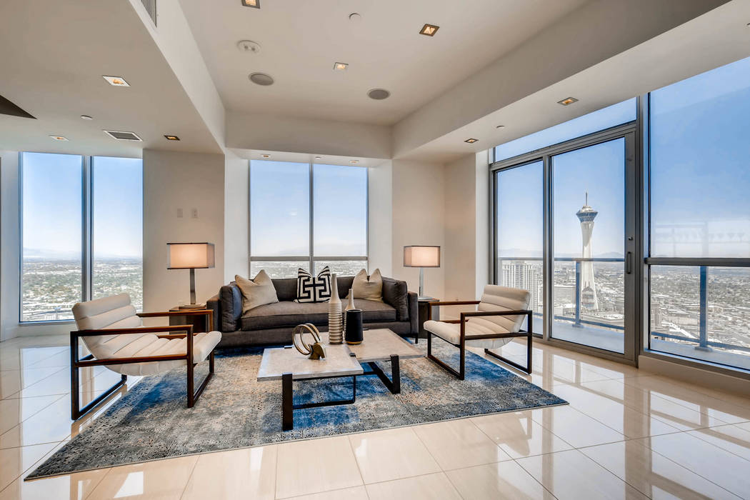 Nearly two years ago, San Diego-based Pathfinder Properties acquired 64 of the unsold units in the Sky Las Vegas. It remodeled those units and placed them on the market. (Char Luxury Real Estate)