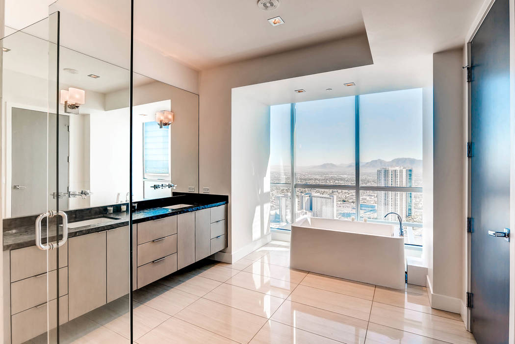 A bath in one of the Sky Las Vegas high-rise units. (Char Luxury Real Estate)