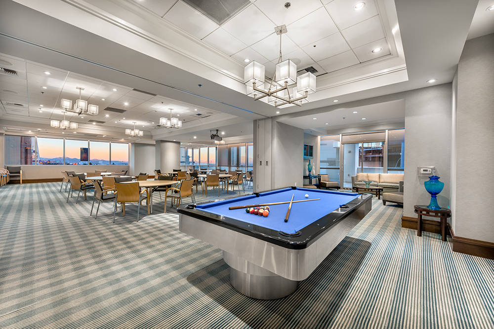 Sky Las Vegas offers a game as one of its amenities. (Char Luxury Real Estate)