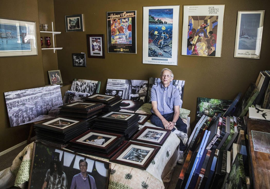 Las Vegan Barry Sweet is a Pulitzer-nominated Associated Press photographer who will have a 50-year retrospective gallery exhibit of his work in September. Photo taken on Tuesday, Aug 8, 2017, at  ...