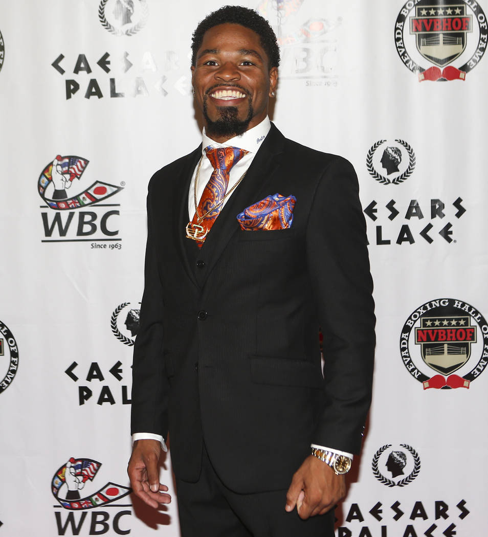 Boxer Shawn Porter on the red carpet before the Nevada Boxing Hall of Fame class of 2017 induction ceremony and gala at Caesars Palace in Las Vegas on Saturday, Aug. 12, 2017. Chase Stevens Las Ve ...