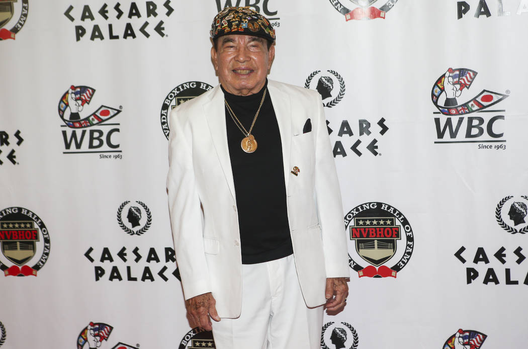 Cutman Rafael Garcia on the red carpet before being inducted into the Nevada Boxing Hall of Fame at Caesars Palace in Las Vegas on Saturday, Aug. 12, 2017. Chase Stevens Las Vegas Review-Journal @ ...