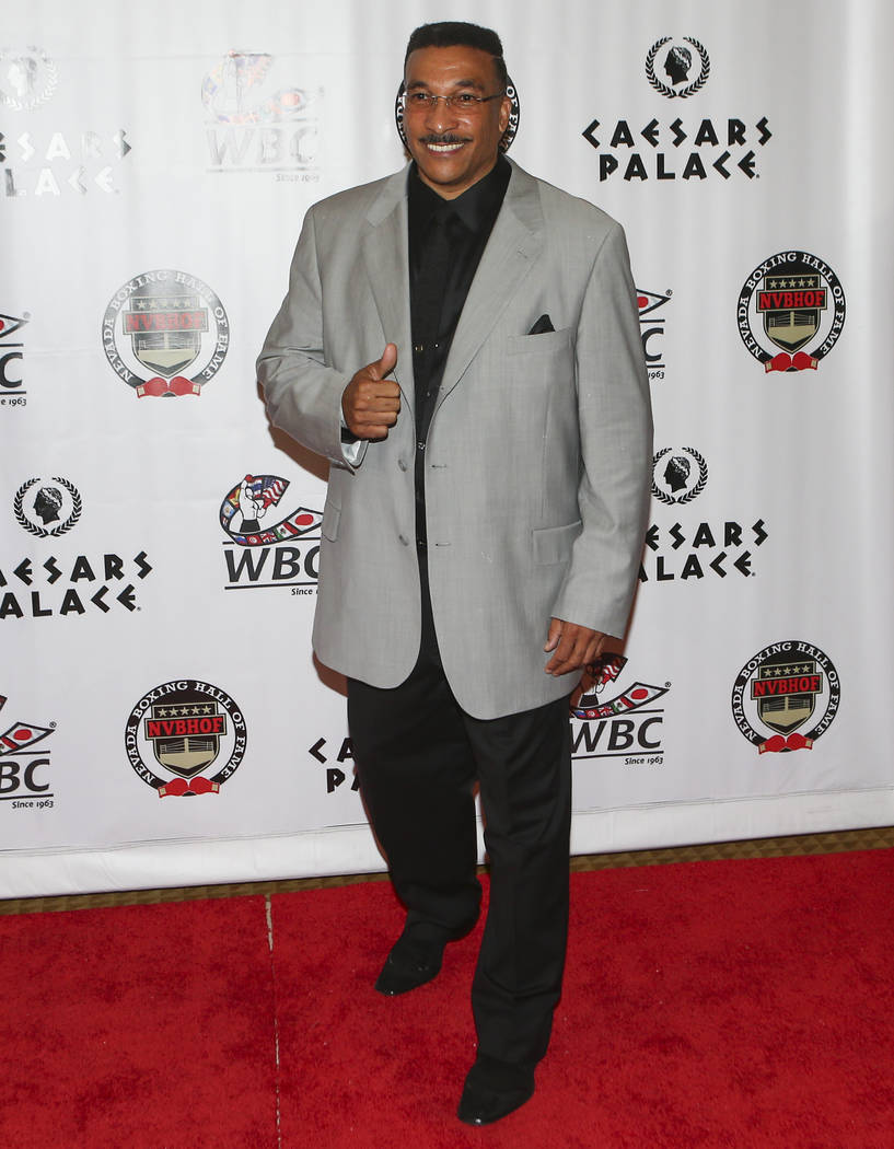 Referee Tony Weeks on the red carpet before the Nevada Boxing Hall of Fame class of 2017 induction ceremony and gala at Caesars Palace in Las Vegas on Saturday, Aug. 12, 2017. Chase Stevens Las Ve ...