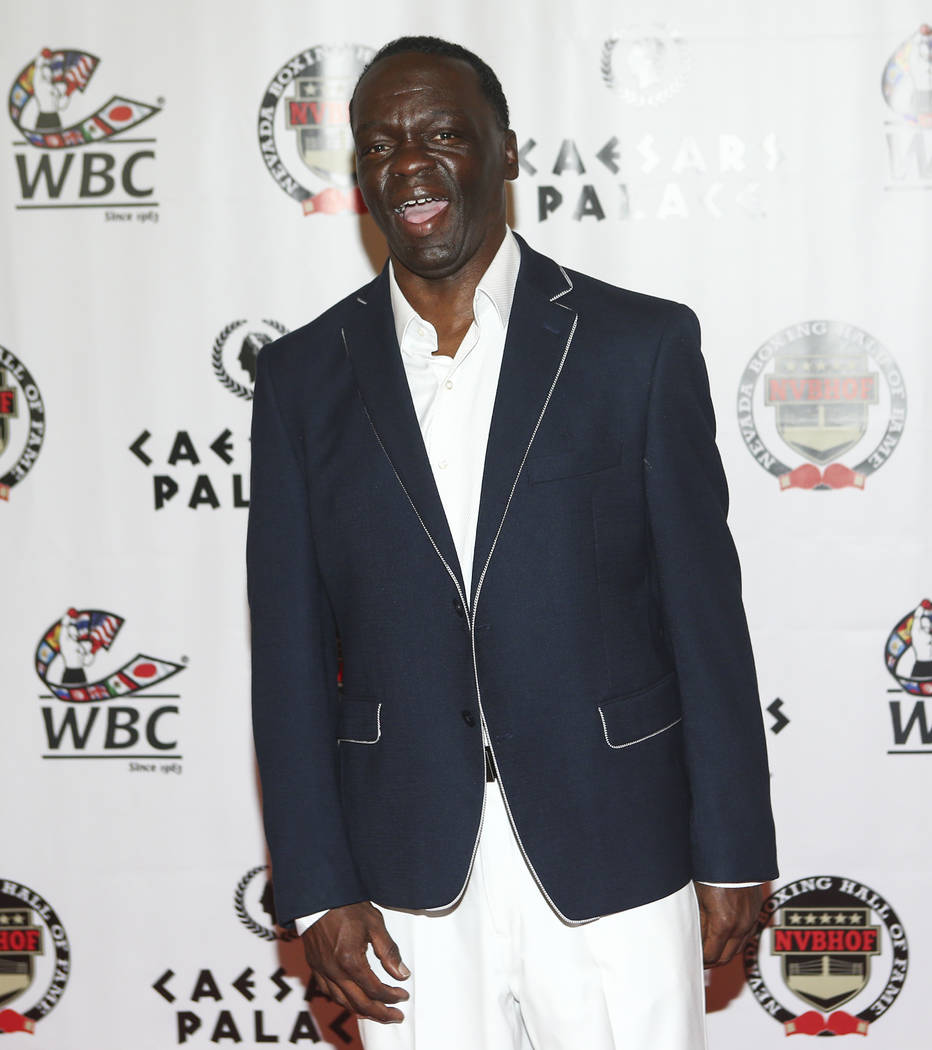 Boxer Jeff Mayweather on the red carpet before the Nevada Boxing Hall of Fame class of 2017 induction ceremony and gala at Caesars Palace in Las Vegas on Saturday, Aug. 12, 2017. Chase Stevens Las ...