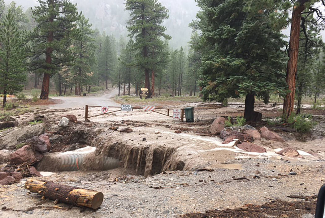 Flooding on Mount Charleston (Clark County Fire Department)