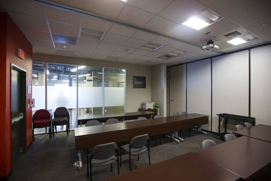 A multi-purpose conference room, which can be used for training, job fairs and more, at One-Stop Career Center in Las Vegas on Friday, Aug. 4, 2017. Chase Stevens Las Vegas Review-Journal @cssteve ...