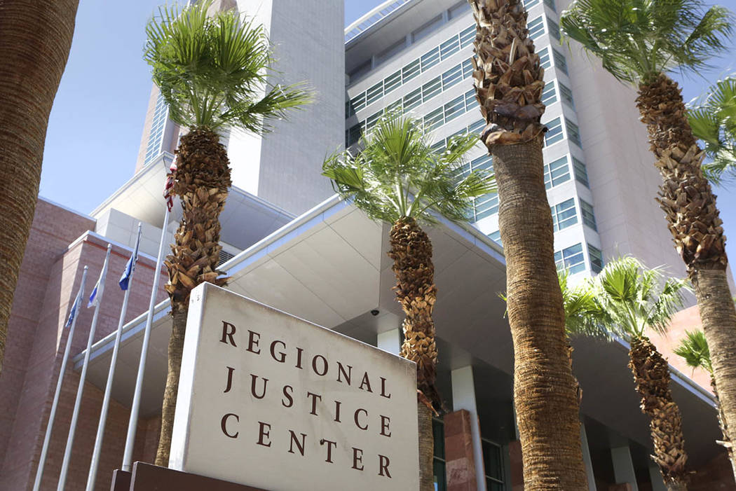 The Regional Justice Center on 200 Lewis Ave., is shown on Tuesday, Aug. 16, 2016, in Las Vegas. Bizuayehu Tesfaye Las Vegas Review-Journal Follow @bizutesfaye