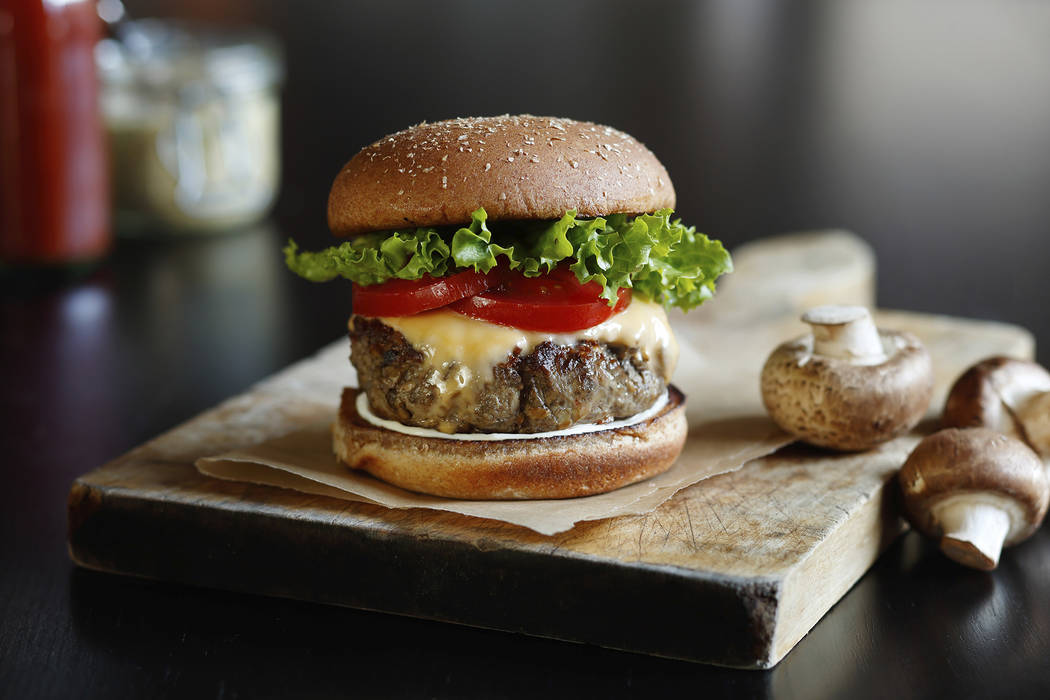 A beef-and-mushroom burger has been conceived as part of an initiative by
