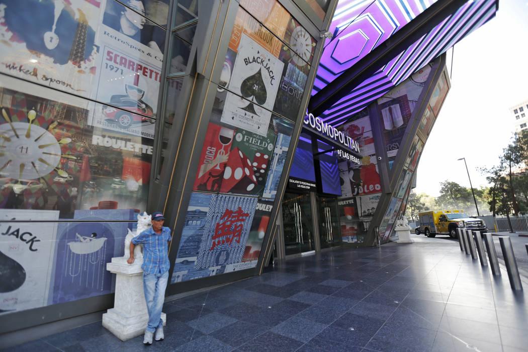 The front of The Cosmopolitan of Las Vegas on Monday Aug. 7, 2017, in Las Vegas. The Cosmopolitan is investing $100 million to upgrade rooms. Rachel Aston Las Vegas Review-Journal @rookie__rae