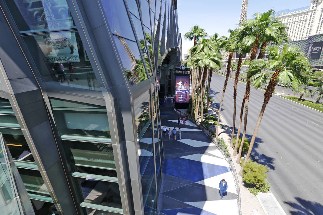 The front of The Cosmopolitan of Las Vegas on Monday Aug. 7, 2017, in Las Vegas. The Cosmopolitan is investing $100 million to upgrade rooms. Rachel Aston Las Vegas Review-Journal @rookie__rae
