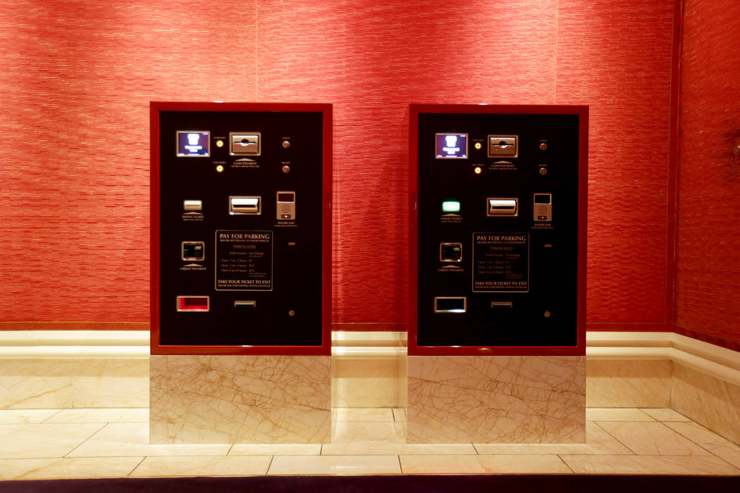 Kiosks for guests to pay for their parking on Monday, August 7, 2017, at the Encore. Kiosks are on every level of the parking garages near the entrances at both Wynn and Encore. Rachel Aston Las V ...