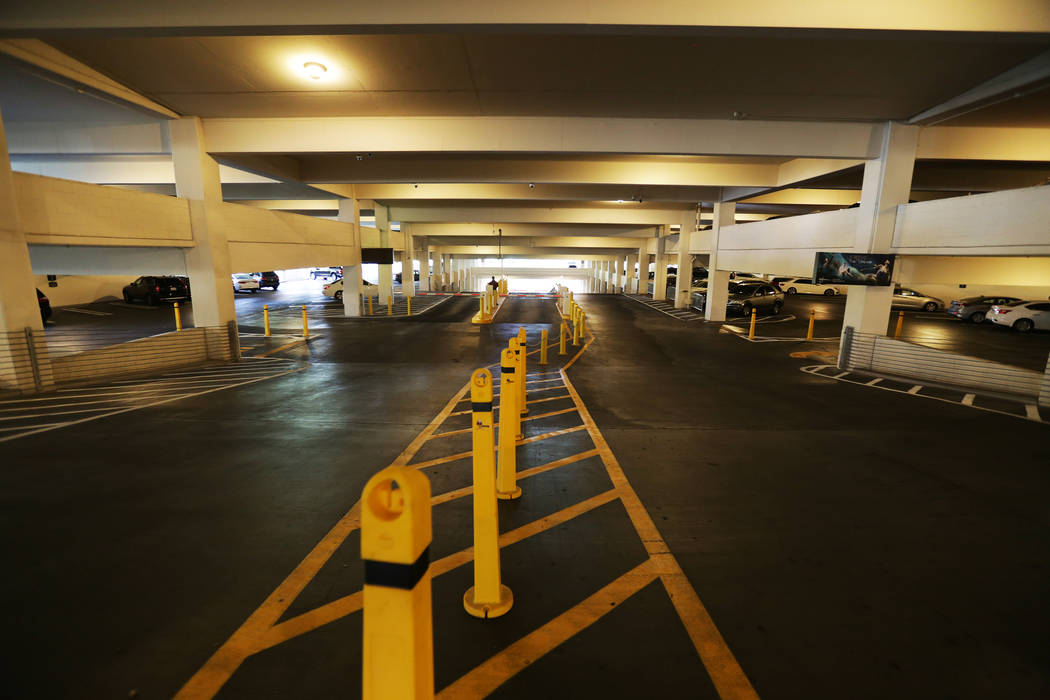 The parking garage on Monday, August 7, 2017, at the Encore. Kiosks to pay for parking are now on every level of the parking garages near the entrances. Rachel Aston Las Vegas Review-Journal @rook ...