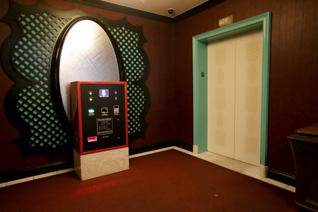 A kiosk for guests to pay for their parking on Monday, August 7, 2017, at the Encore. Kiosks are on every level of the parking garages near the entrances at both Wynn and Encore. Rachel Aston Las  ...