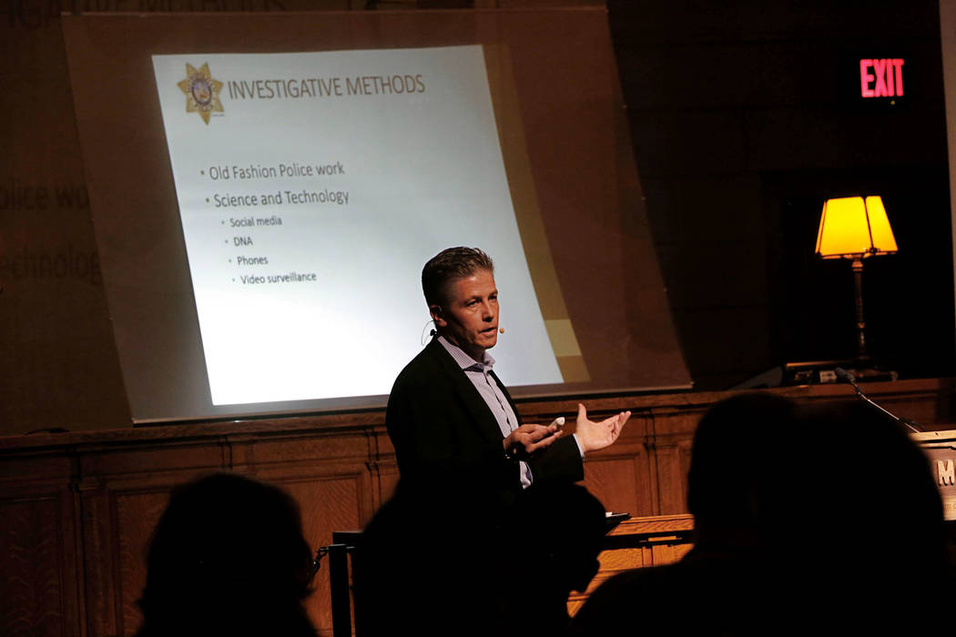 Metropolitan Police Department Lt. Dan McGrath speaks about how police investigate homicide during a community forum event at The Mob Museum in Las Vegas, Sunday, Aug. 20, 2017. Chitose Suzuki Las ...