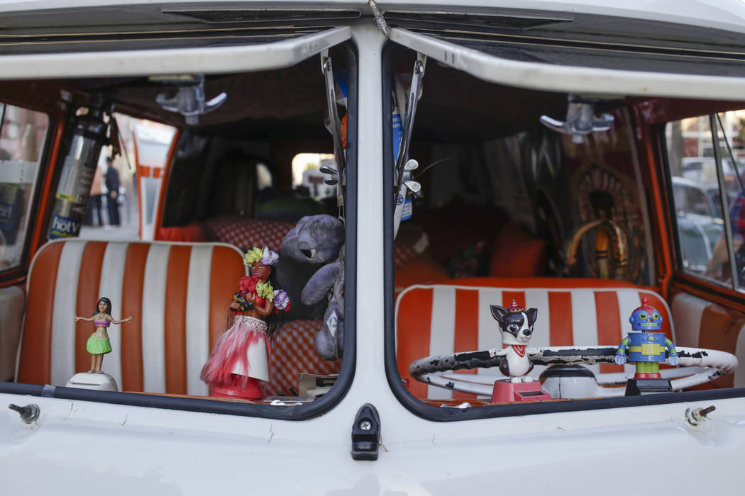 The interior of a 1959 Volkswagen Bus during the Abbey Road Crossing Beatles Celebration in front of the El Cortez in Las Vegas, Saturday, Aug. 19, 2017.  Gabriella Angotti-Jones Las Vegas Review- ...