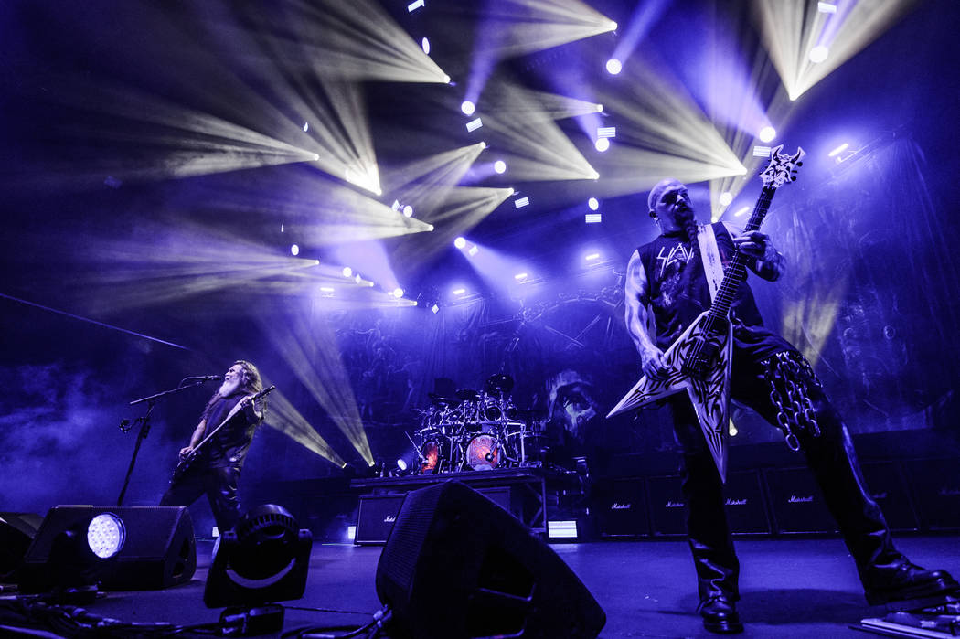 Slayer performs at the Hard Rock Hotel on Friday, Aug. 4, 2017 in Las Vegas. Brenton Ho
