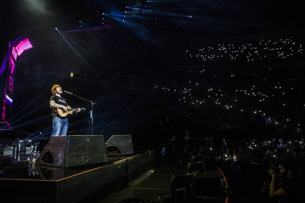Ed Sheeran plays to a sold out crowd at T-Mobile Arena on Friday, Aug 4, 2017, in Las Vegas. Benjamin Hager Las Vegas Review-Journal @benjaminhphoto