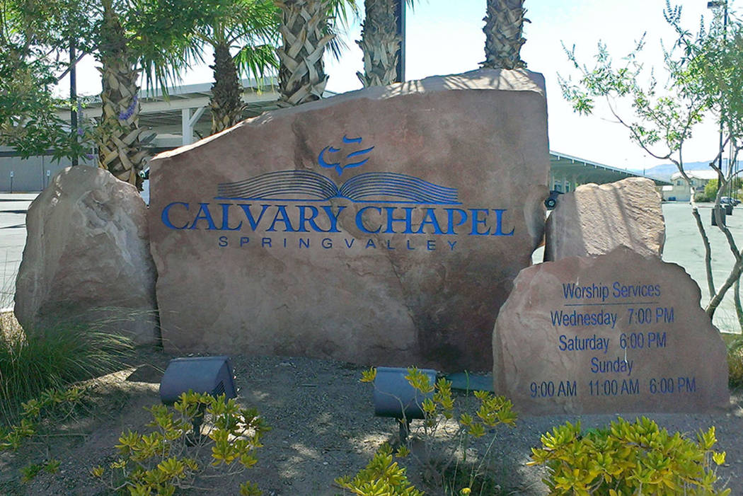 The entrance to Calvary Chapel, where former NCAA coach Dave Bliss was hired as the athletic director and basketball coach. (Jonathan Saxon/Las Vegas Review-Journal)