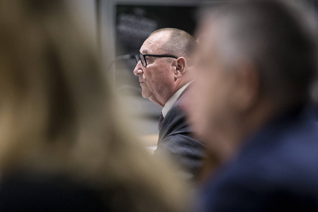 Rossi Ralenkotter, president of the Las Vegas Convention and Visitors Authority, during a meeting at the Las Vegas Convention Center in Las Vegas on Tuesday, Aug. 8, 2017. Erik Verduzco Las Vegas  ...