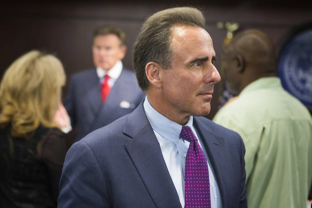 Caesars Entertainment President and CEO Mark Frissora appears for gaming license at the Nevada Gaming Commission on Thursday, March 17, 2016. Jeff Scheid/Las Vegas Review-Journal Follow @jlscheid