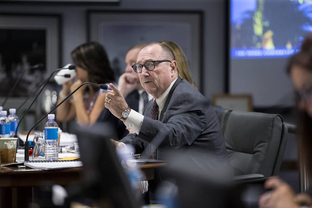 Rossi Ralenkotter, president of the Las Vegas Convention and Visitors Authority, during a meeting at the Las Vegas Convention Center in Las Vegas on Tuesday, Aug. 8, 2017. (Erik Verduzco/Las Vegas ...