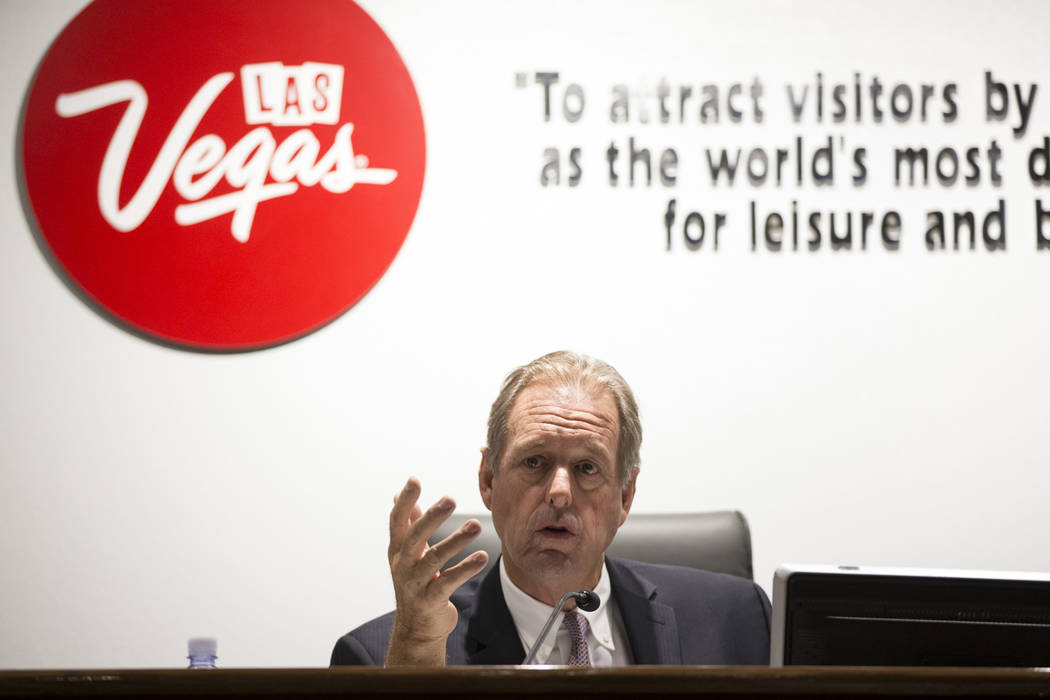 Las Vegas Convention and Visitors Authority board member and North Las Vegas Mayor John Lee during a meeting at the Las Vegas Convention Center in Las Vegas on Tuesday, Aug. 8, 2017. (Erik Verduzc ...