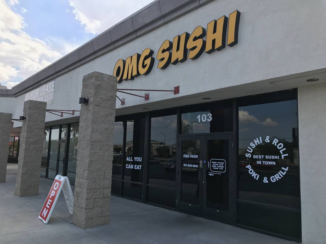 The exterior of OMG Sushi, 2351 N. Rainbow Blvd #103. (Kailyn Brown/ View) @KailynHype