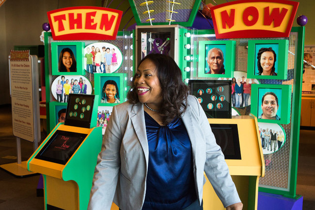 Tifferney White, CEO and president of the Discovery Children's Museum, 360 Promenade Place, walks through the museum on Thursday, April 16, 2015. (Jeff Scheid/Las Vegas Review-Journal) Follow Jeff ...