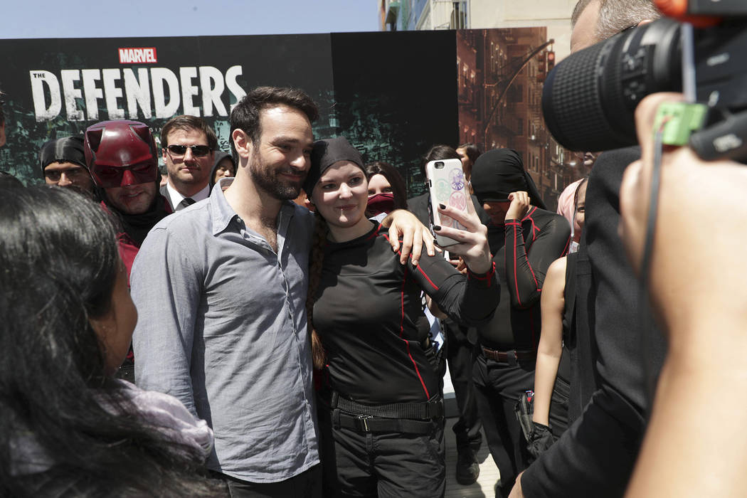 Charlie Cox meets fans at the Netflix Experience at Comic-Con in San Diego. (Eric Charbonneau)