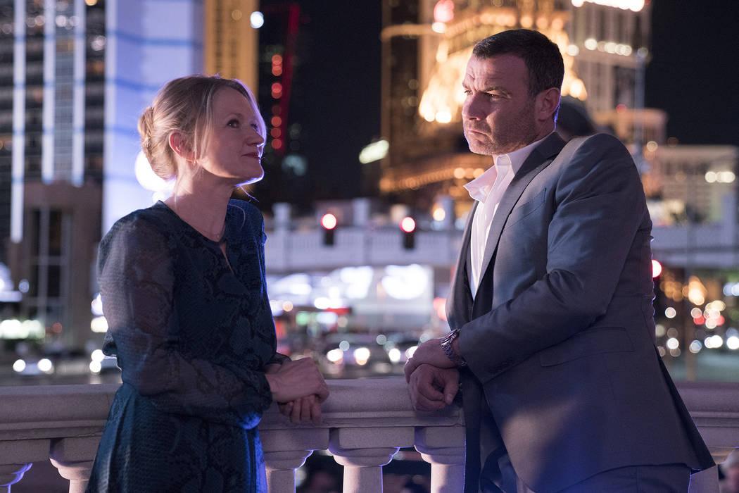 Paula Malcomson as Abby Donovan and Liev Schreiber as Ray Donovan in Ray Donovan.  Michael Desmond Showtime
