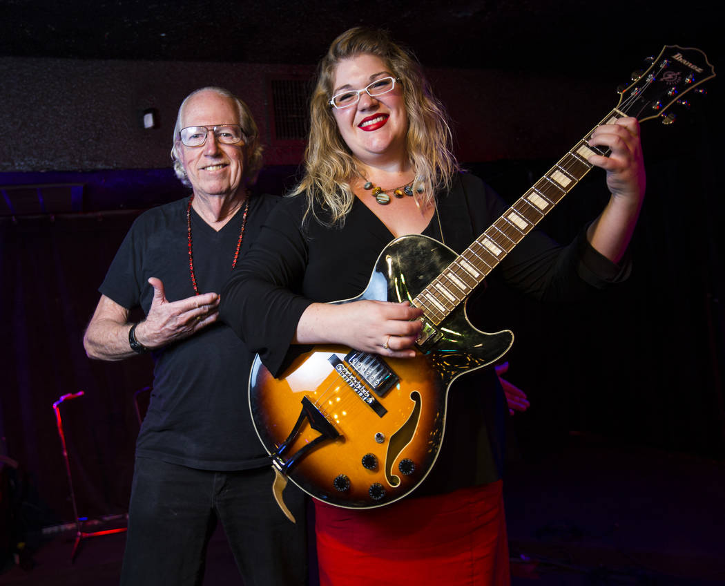 Poet Lee Mallory and musician Lisa Mac at the Sand Dollar Lounge in Las Vegas on Tuesday, Aug. 8, 2017. Mallory and Mac will be headlining the Love Wins Again fundraiser for Opportunity Village at ...