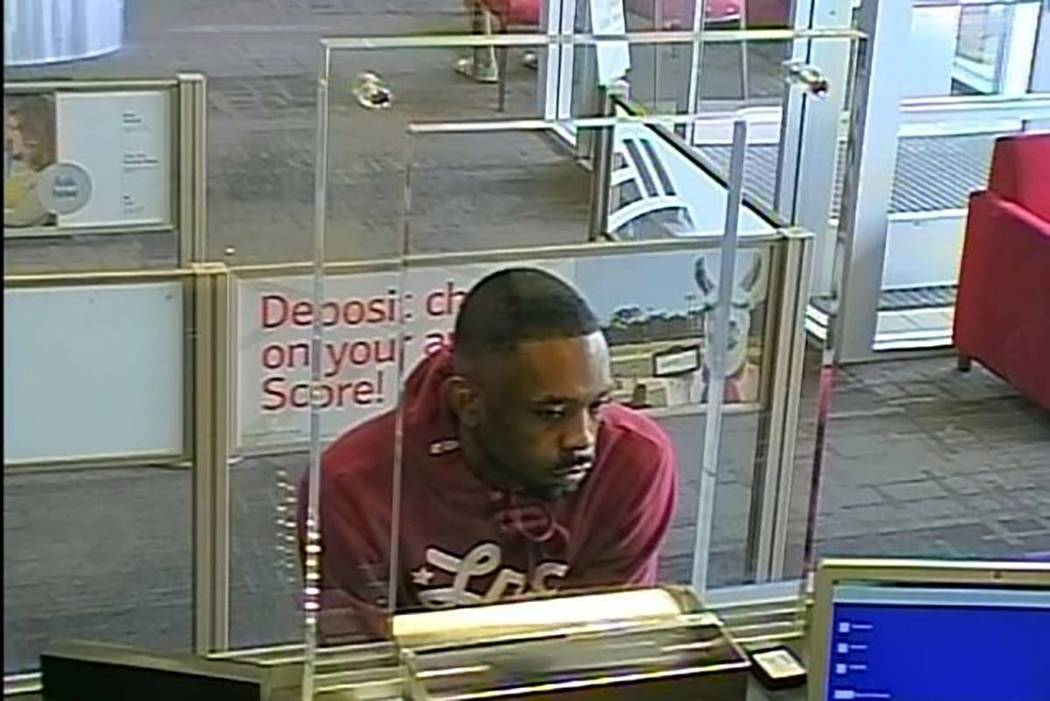 Las Vegas police are looking for a man they say committed three bank robberies since April. (Las Vegas Metropolitan Police Department)