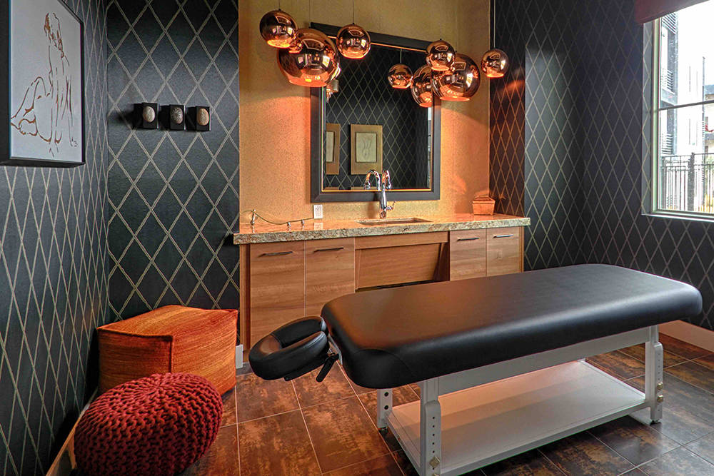 The Calida Group, which built the Elysian communities in the Las Vegas Valley, has over-the-top amenities, such as massage therapy rooms. (Courtesy)