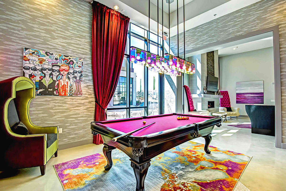 The Calida Group created the ultra-apartment complex, the Constellation, in Downtown Summerlin. It has a game room along with other amenities. (Courtesy)