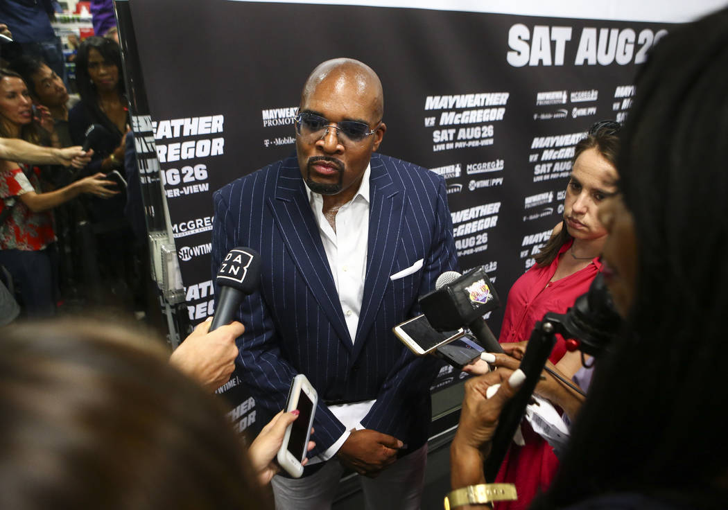Mayweather Promotions CEO Leonard Ellerbe at the Mayweather Boxing Club in Las Vegas on Thursday, Aug. 10, 2017. Chase Stevens Las Vegas Review-Journal @csstevensphoto